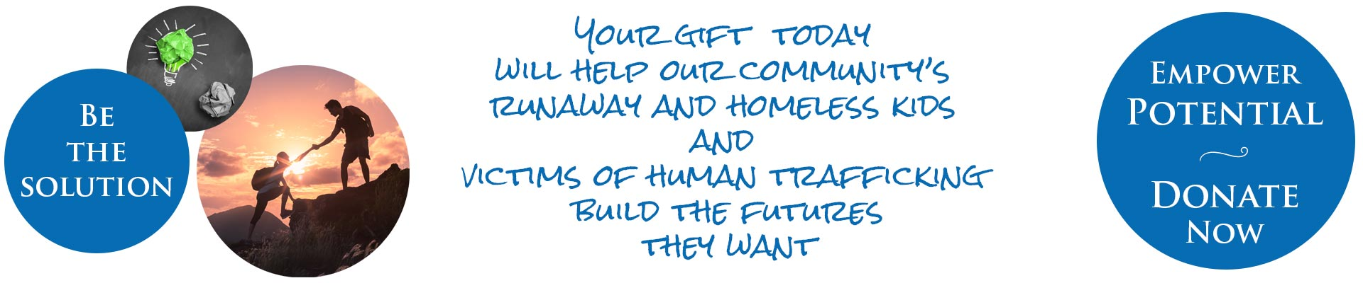 Support programs for runaway and homeless youth and victims of human trafficking